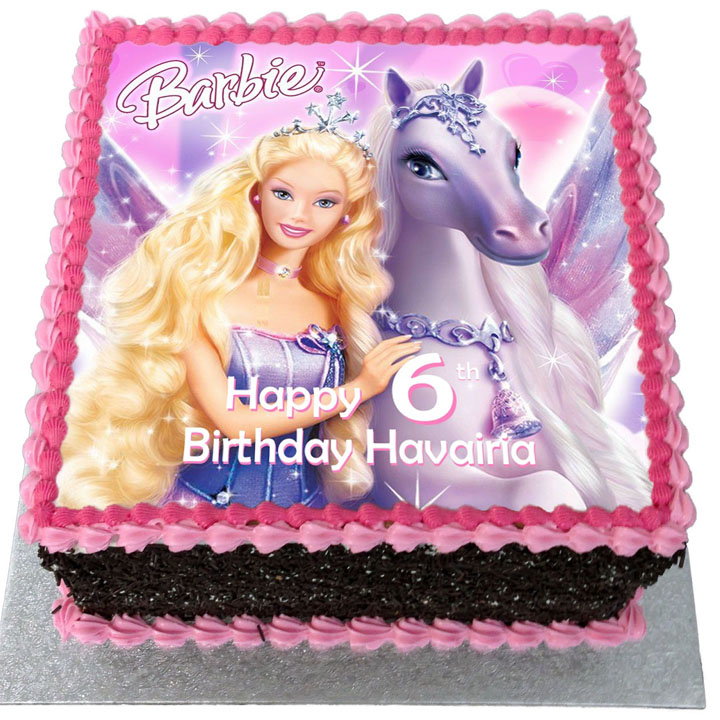 Barbie Birthday Cake Flecks Cakes