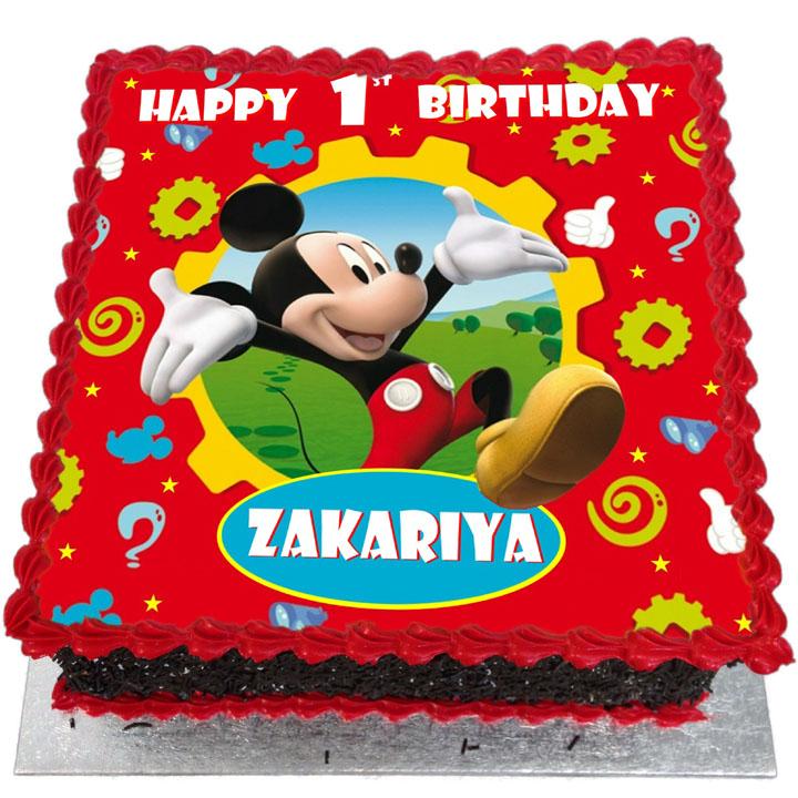 Mickey Mouse Birthday Cake Cake By Andycake Cakesdecor